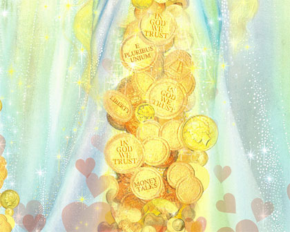 Picture of Coins in Prosperity Angel